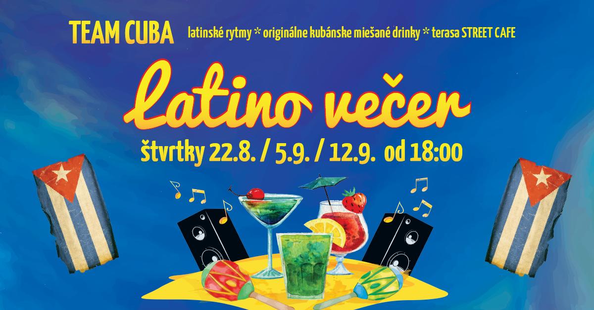 latino večer city park rovinka