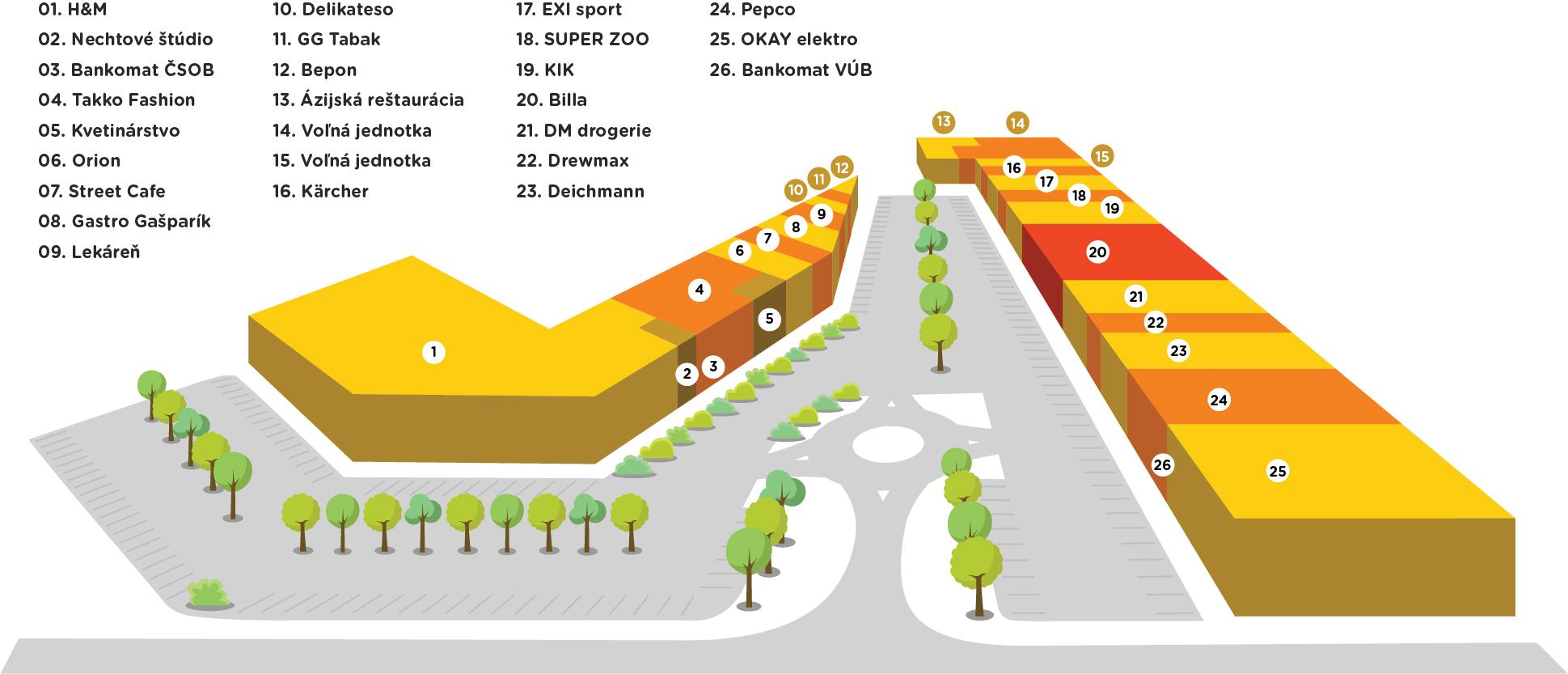 bce440c8d Zoznam predajní – Obchodné centrum CITY PARK Trnava